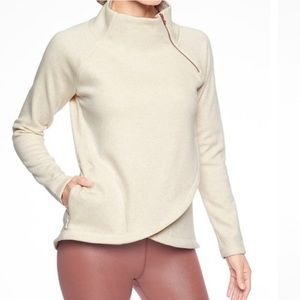 Oatmeal Rose Gold Athleta Cozy Karma Asym Sweater